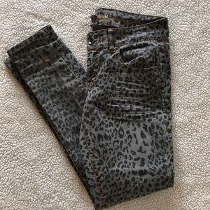 Dollhouse leopard print skinny jeans